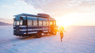 How Two Travelers Converted Their Burning Man Bus To A Full-Time Home