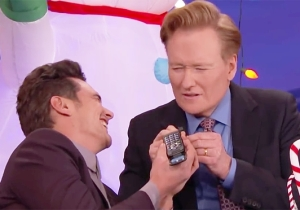 James Franco And Conan Answer 'The Disaster Artist' Hotline In The Middle Of An Interview