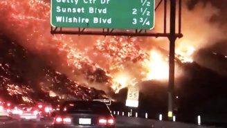 Watch Surreal Video Footage Of An Apocalyptic Wildfire Consuming The Los Angeles Hills