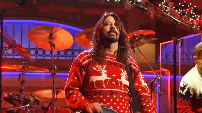 Foo Fighters Snl Christmas.Foo Fighters Saturday Night Live Everlong Christmas