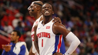 Reggie Jackson Had To Leave Detroit's Game Against Indiana After A Nasty Ankle Injury