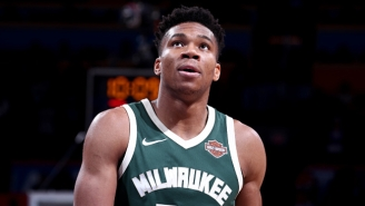 Giannis Antetokounmpo Literally Jumped Over Tim Hardaway Jr. While Finishing An Alley-Oop
