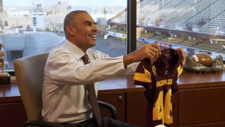 Herm Edwards Had An Eventful First Day At Arizona State And Learned About Jerseys
