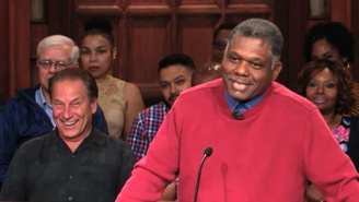 Tom Izzo Attended An Episode Of 'Judge Mathis' And Looked Like He Had The Time Of His Life
