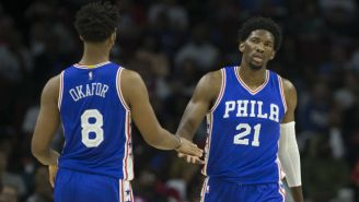 Joel Embiid Is Happy Jahlil Okafor Was Traded, But Said He's Going To 'Kick His Ass'