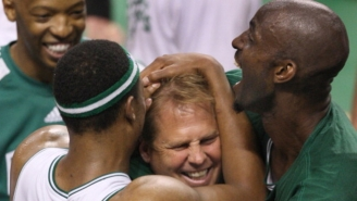 Kevin Garnett Went Nuts Watching The Celtics' Comeback Win And Danny Ainge Approved