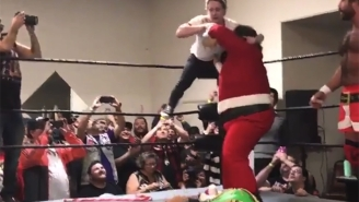Macaulay Culkin Used 'Home Alone' Traps To Help Santa Win A Wrestling Match