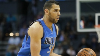 Dallas Center Salah Mejri Tried To Trip Patty Mills As The Spurs And Mavs Headed To Halftime