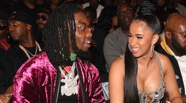 Cardi B Gives Offset A Lap Dance Onstage At Bet Awards: Cardi B Gives Offset A Rap Battle Challenge For Christmas