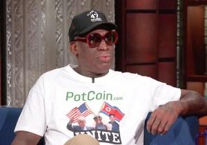 Stephen Colbert On Dennis Rodman's Friendship With Kim Jong-Un: 'You. Must. Be. High.'