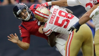 Tom Savage Played A Series After Suffering A Scary Concussion When His Head Slammed Into The Turf