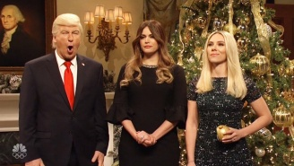 'SNL' Takes A Look At Christmas In The White House With A Special Visit By Scarlett Johansson