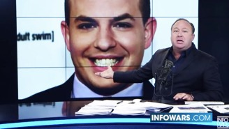 Alex Jones Calls CNN's Brian Stelter A 'Literal Demon Spawn' Who Gets 'Drunk On Children's Blood'