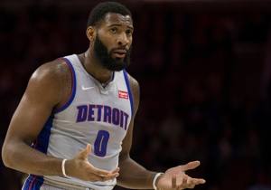 Andre Drummond Tried To Shush The Philly Crowd With His Team Down 30