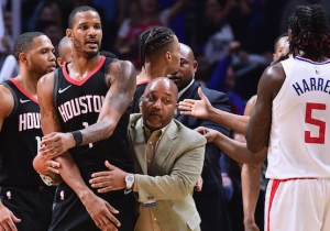 A Group Of Houston Rockets Stormed The Clippers Locker Room Last Night To Confront Blake Griffin And Austin Rivers