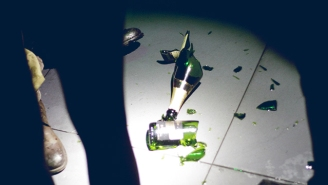 Watch This Club Goer Break A Bottle Of Champagne Worth $42,000