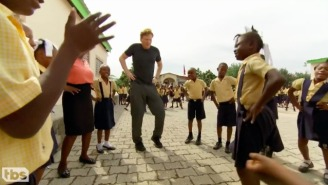 Conan Charms Schoolkids In Port-au-Prince During His Tour Of Haiti