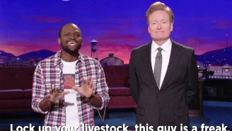 Conan Gets Some Help To Send A Very Special Message To Haiti Ahead Of His Visit