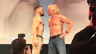 Conor McGregor Had A Shirtless Face Off With Billionaire Richard Branson For Some Reason