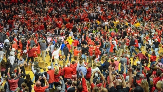 A West Virginia Player Punched A Texas Tech Fan Who Stormed The Court