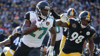 Leonard Fournette Suffered A Right Ankle Injury Against The Steelers (UPDATE)