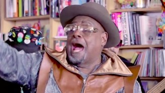 George Clinton's Funky Tiny Desk Concert Turns The Office Party Into A Family Reunion