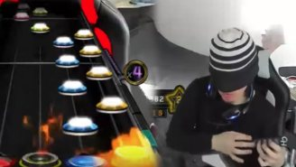 A Streamer Makes History After Getting A 100 Percent On 'Guitar Hero's' Toughest Song While Blindfolded