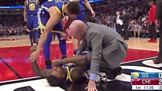 Jordan Bell Left The Game In A Wheelchair After Trying To Block A Robin Lopez Dunk