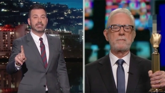Jimmy Kimmel Invites A Very Special 'Fake' Wolf Blitzer To Accept CNN's Fake News Trump Award