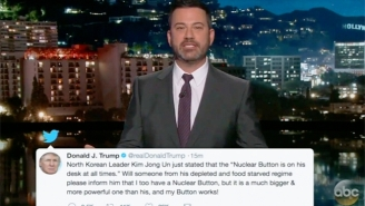 Jimmy Kimmel Isn't Ready For Trump's 'Button' Measuring With Kim Jong-Un: 'It's Only January 2nd!'