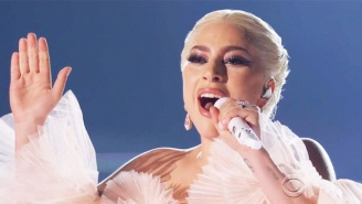 Lady Gaga And Mark Ronson Perform An Angelic 'Joanne' And 'Million Reasons' Medley At The Grammys