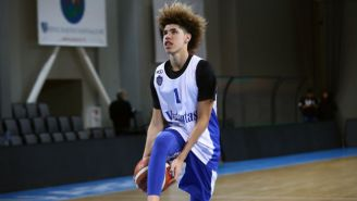 LaMelo Ball Attempted A Self Alley-Oop In Lithuania, And It Did Not Go Well