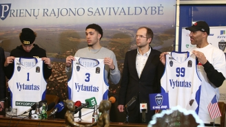 The Ball Family's Opening Press Conference In Lithuania Was Predictably Ridiculous