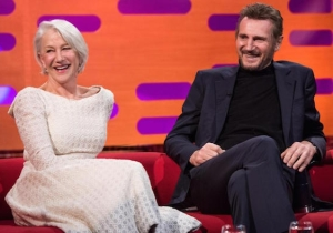 Liam Neeson And Helen Mirren Recall Being A 'Serious Item' On 'Norton'