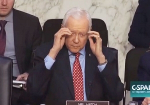 Senator Orrin Hatch Removes A Pair Of Invisible Glasses, And Nobody Can Handle It