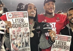 Quavo Was The Best Georgia Bulldogs Cheerleader At The Rose Bowl