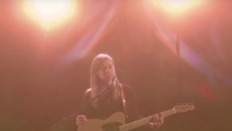 Julien Baker's Chilling Performance Of 'Turn Out The Lights' On 'Colbert' Is One For The Ages