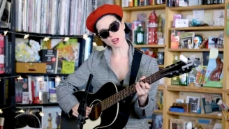 St. Vincent Is The Coolest Person In The Room Even At NPR's Tiny Desk Concert