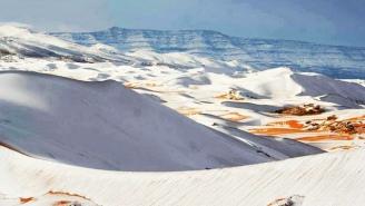 It Snowed In The Sahara Desert And The Photos Are Straight Up Awesome
