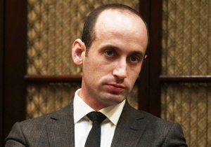 Stephen Miller's Apparent Hair Spray Job While On 'Face the Nation' Has Twitter Cracking Up
