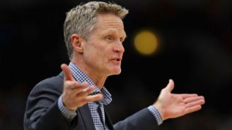 Steve Kerr Responded To A Question About The Wolves By Trashing Their Jerseys