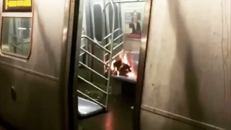 A 'Flaming Heap' Was Found Burning In A New York City Subway Car
