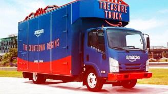 Amazon's Treasure Trucks Keep Showing Up At Whole Foods