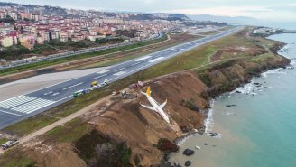 A Plane Skidded Off A Runway And Nearly Plunged Into The Black Sea