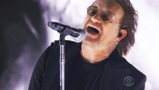 U2 Delivered A Passionate Rendition Of 'Get Out Of Your Own Way' In Front Of The Statue Of Liberty