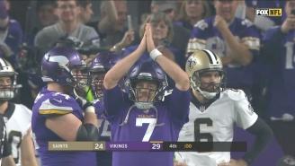 The Vikings Kneeled The Extra Point To Ruin The Cover And Sent Vegas Into A Frenzy