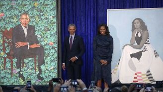 Barack Obama Is Quite Pleased That An Artist Who Painted A Portrait Of Michelle Was Able To Capture Her 'Hotness'