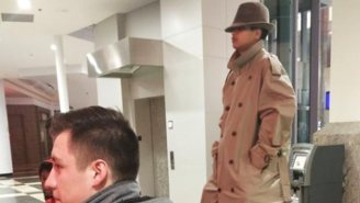 A Couple Of Pranksters Tried Getting Into 'Black Panther' On One Ticket Dressed As A Tall Man In A Trench Coat