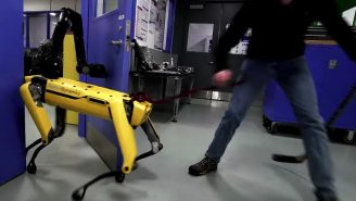 Watch A Man Try To Fend Off The Latest Door-Opening Boston Dynamics Robot