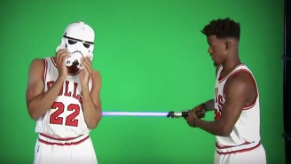 The Bulls Welcomed Jimmy Butler And Taj Gibson Back To Chicago With An Incredible Video